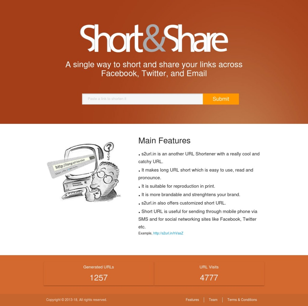 Short & Share URL - Application offers customized short URL